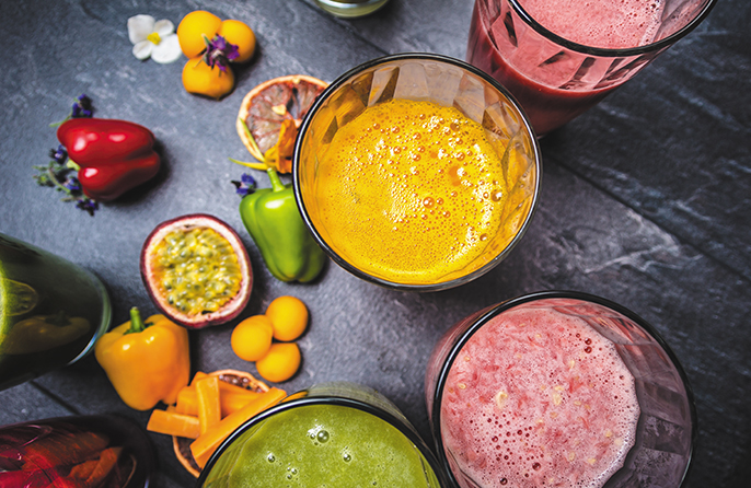 Freshly squeezed juices and smoothies