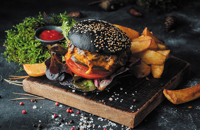 """Cafe del Mar"" burger"