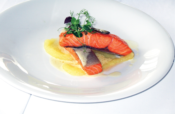 Fillet of trout baked