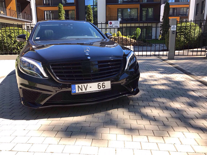 Rent a car with driver Mercedes W222 S-class Long 2016 AMG - Riga