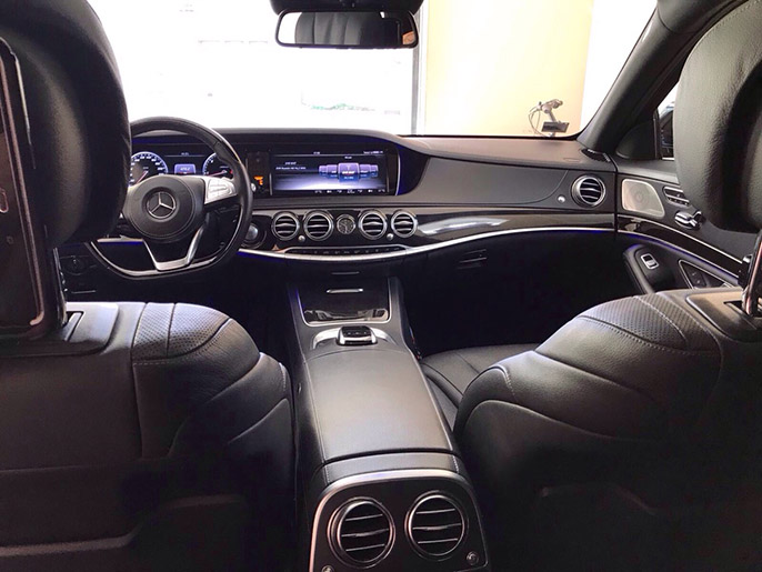 Rent a car with driver Mercedes New W 222 S-class Long 2016 AMG - Riga