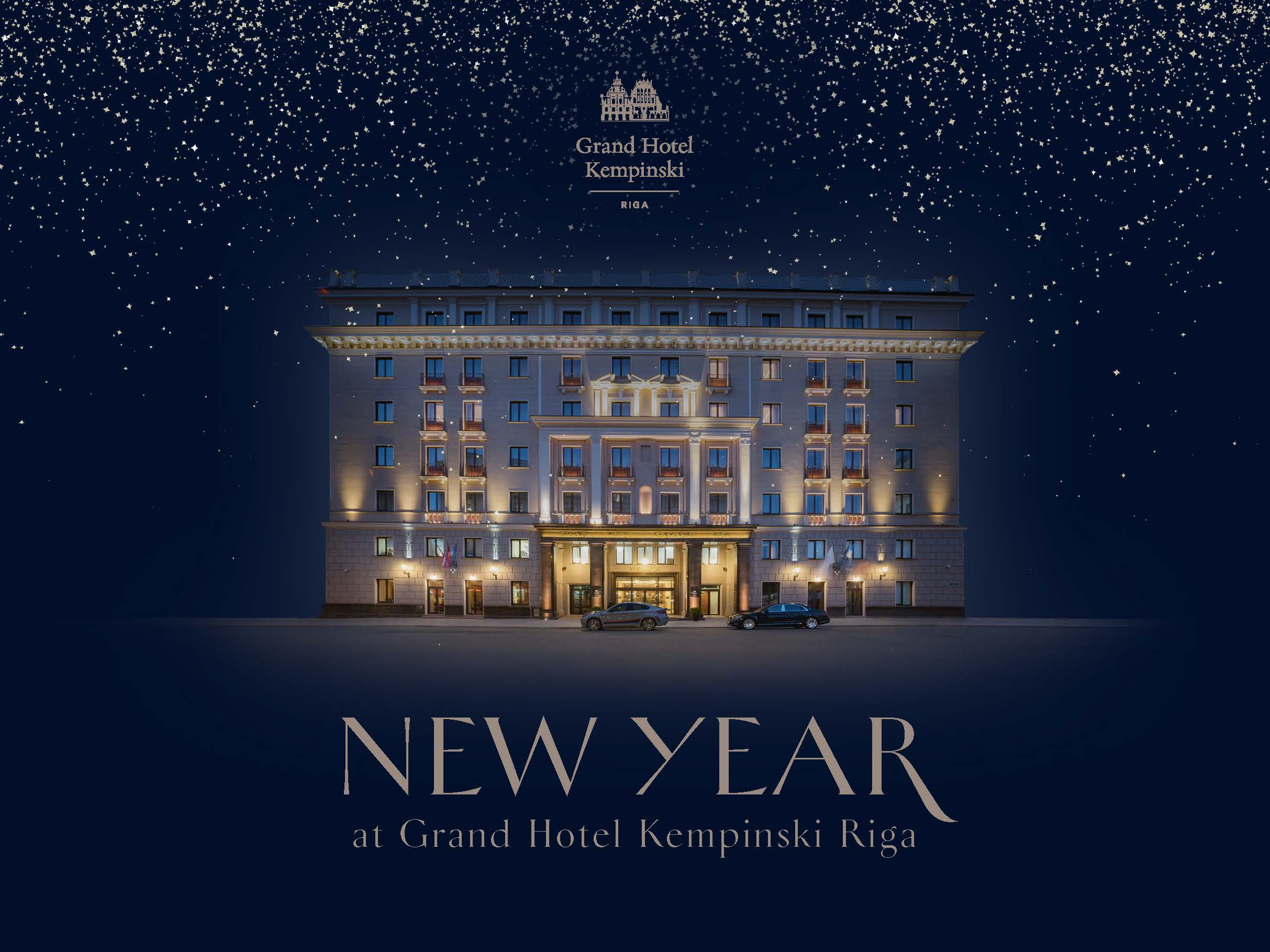 New Year's Eve Dinner at Amber Restaurant Grand Hotel Kempinski Riga