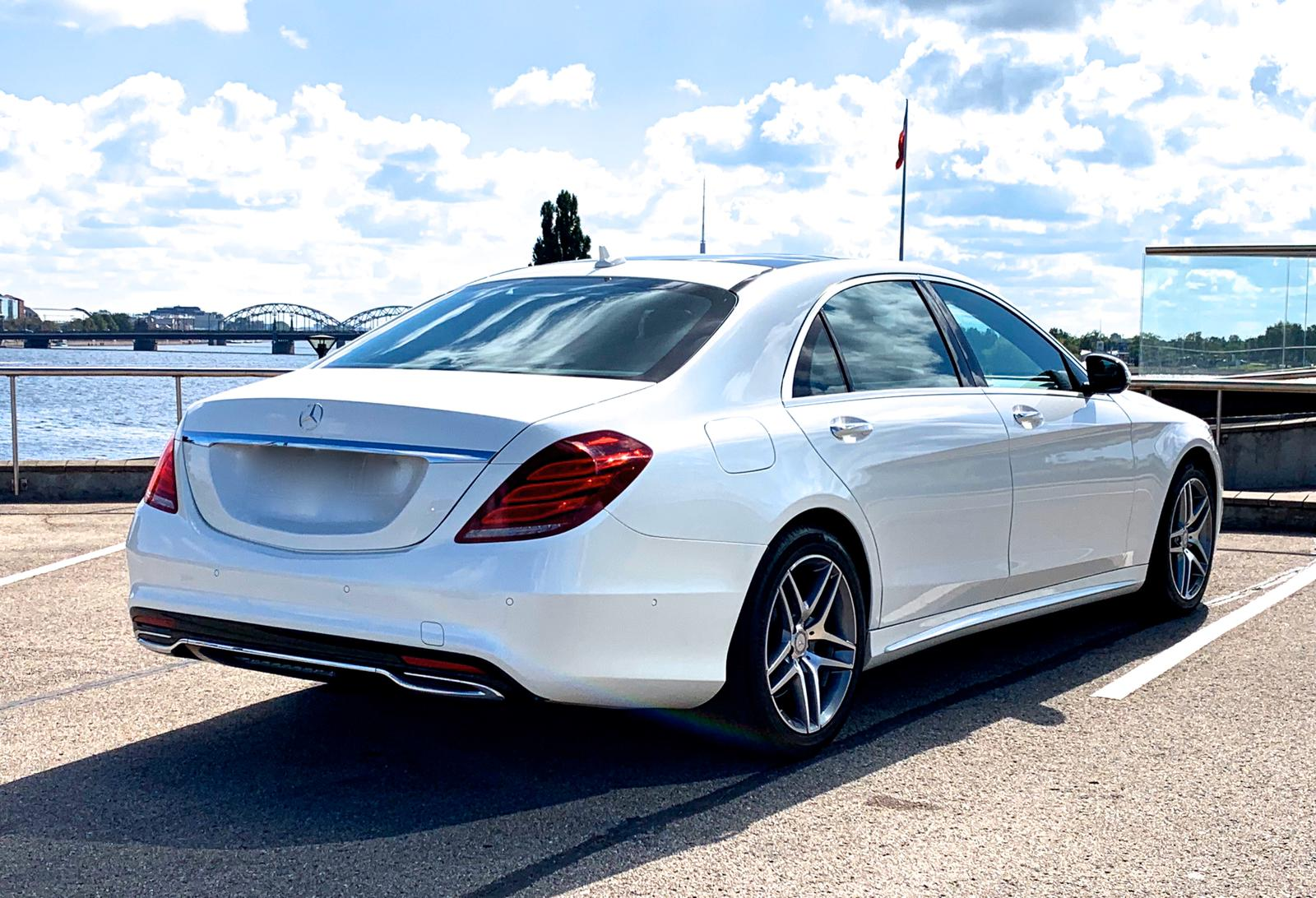 Rent a car with driver Mercedes-Benz S-class Long 2012 white