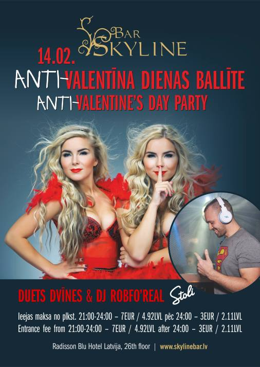 ANTI-VALENTINE'S DAY PARTY в Skyline баре